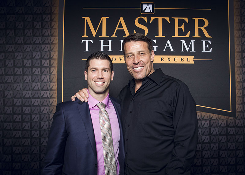 Brad Johnson and Tony Robbins